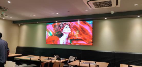 液晶拼接屏厂家餐厅安装实际案例